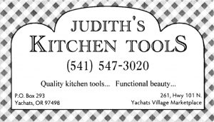 Judith's Kitchen Tools
